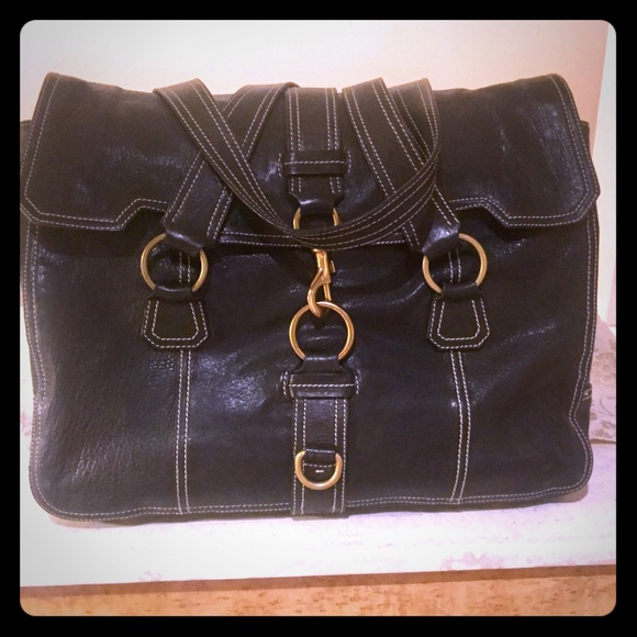 7a4b65469d00 Miu Miu Large Shoulder Bag. Black Leather Mint. M 5b3797ea03087cf236f567a5